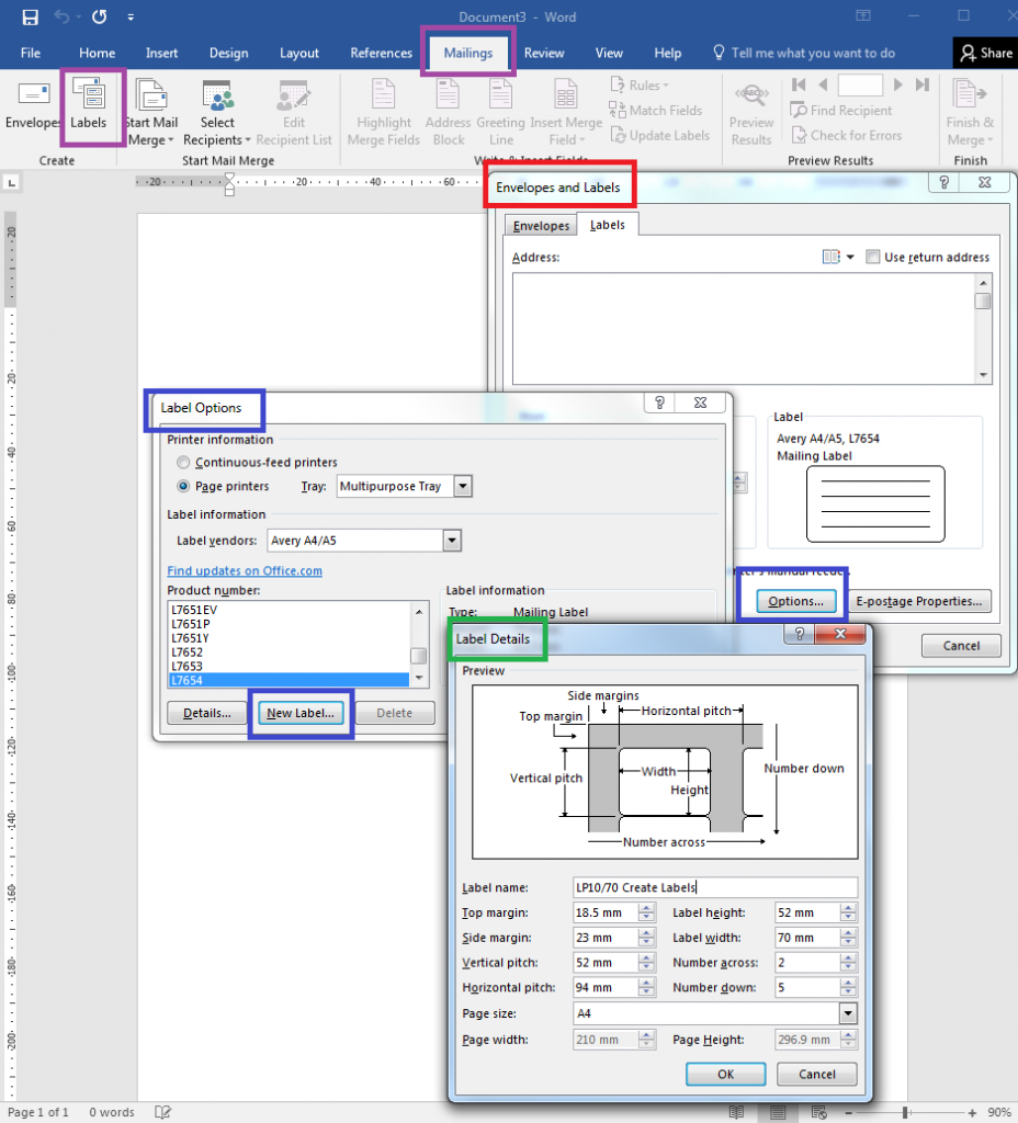 How To – How To Create Your Own Label Templates In Word Inside File Side Label Template