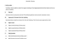 How To Write A Meeting Agenda For Conference Calls within Conference Call Agenda Template