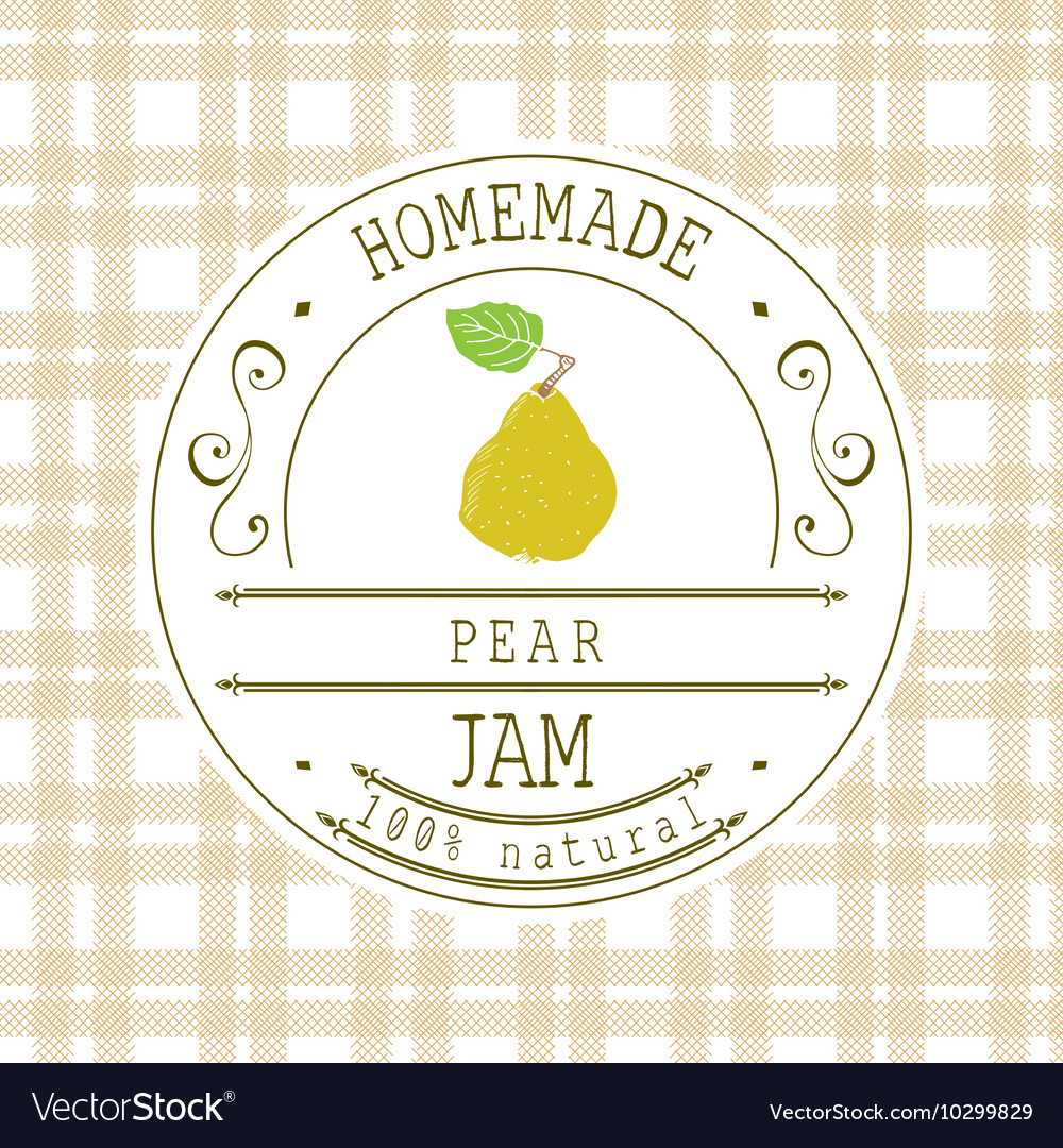 Jam Label Design Template For Pear Dessert Product Throughout Dessert Labels Template