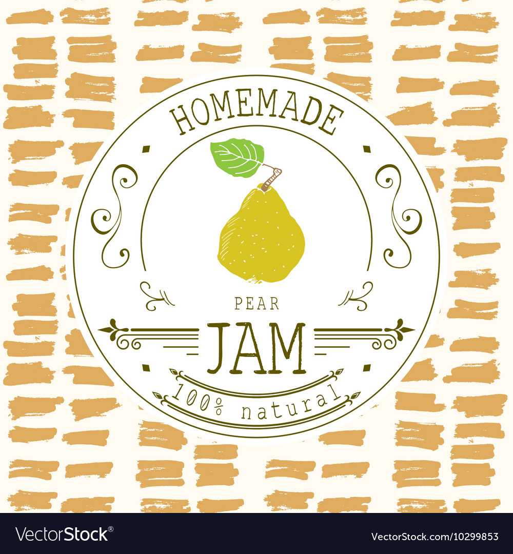 Jam Label Design Template For Pear Dessert Product With Regard To Dessert Labels Template