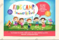 Kids Summer Camp Vector & Photo (Free Trial) | Bigstock for Free Summer Camp Flyer Template