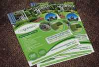 Landscaping Business Graphic Design Flyer inside Fall Clean Up Flyer Template