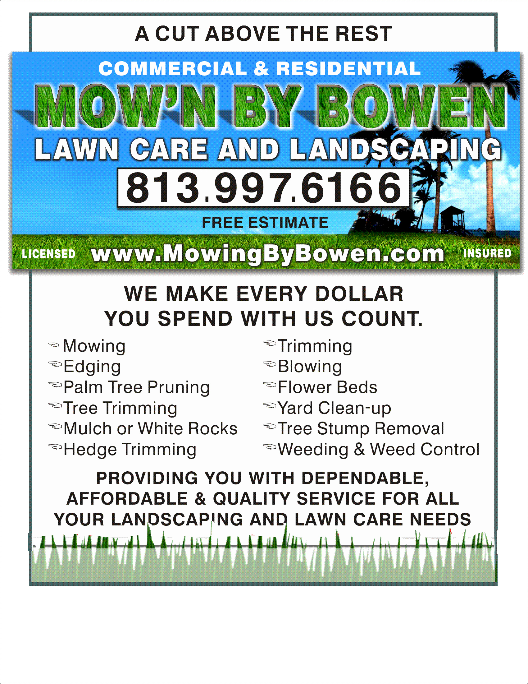 Lawn Care Service Flyers With Free Lawn Mowing Flyer Template