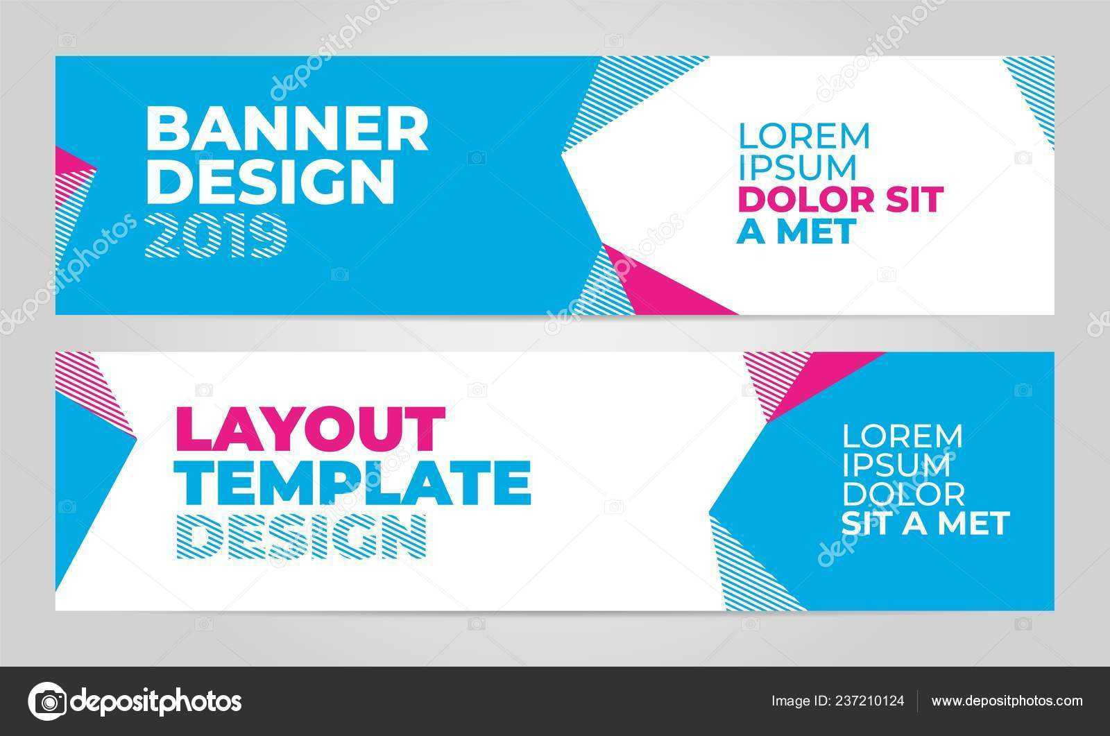 Layout Banner Template Design For Winter Sport Event 2019 Inside Event Banner Template