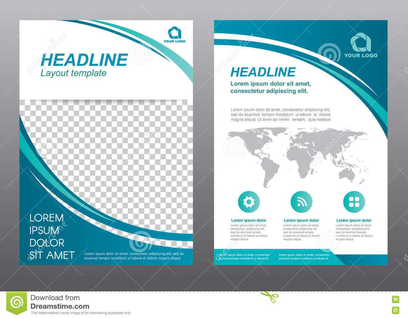 Layout Flyer Template Size A4 Cover Page Stock Vector Inside Flyer Template Pages