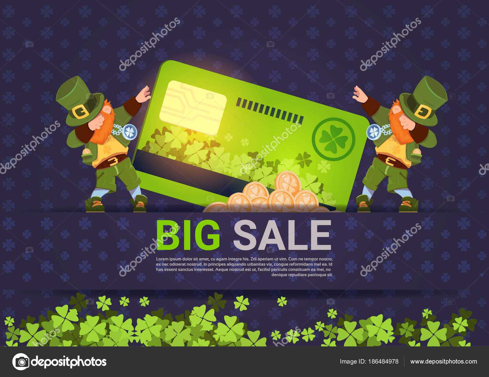 Leprechuns Hold Credit Card Sale For St. Patricks Day With Regard To Credit Card Templates For Sale
