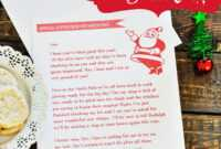 Letter From Santa – Free Printable intended for Free Letters From Santa Template