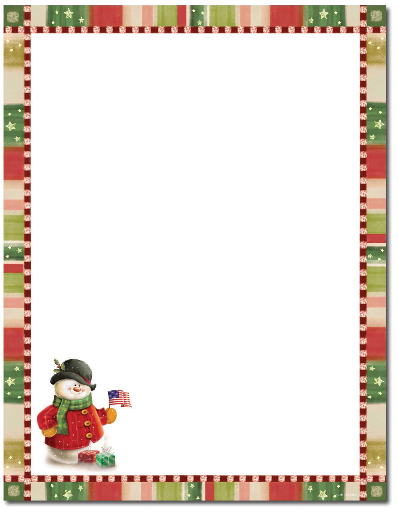 Letterhead Templates Christmas | Create Your Perfect Résumé With Regard To Christmas Letterhead Template