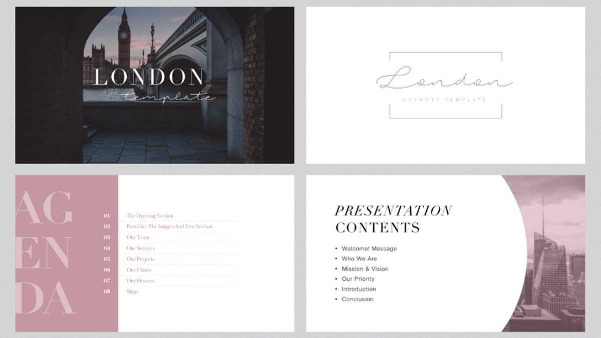 London Minimal Free Powerpoint Template For Fancy Powerpoint Templates