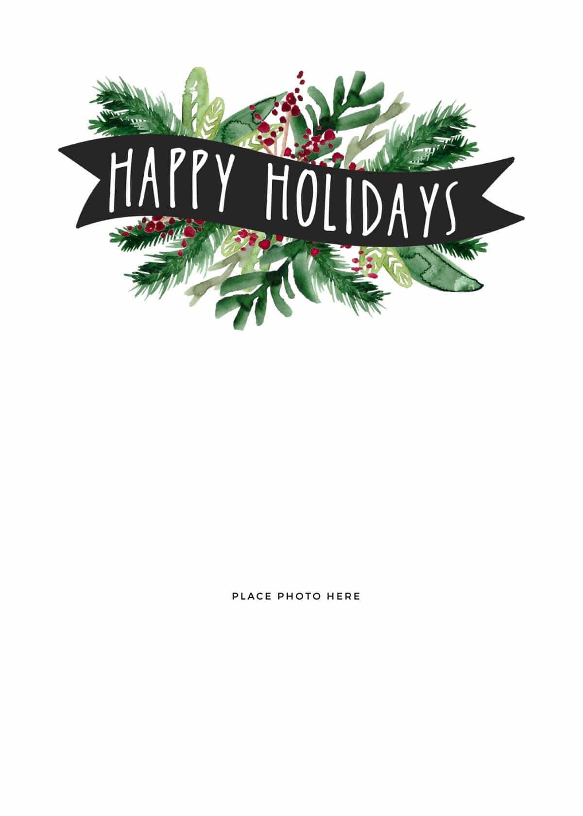 Make Your Own Photo Christmas Cards (For Free!) – Somewhat With Christmas Photo Cards Templates Free Downloads
