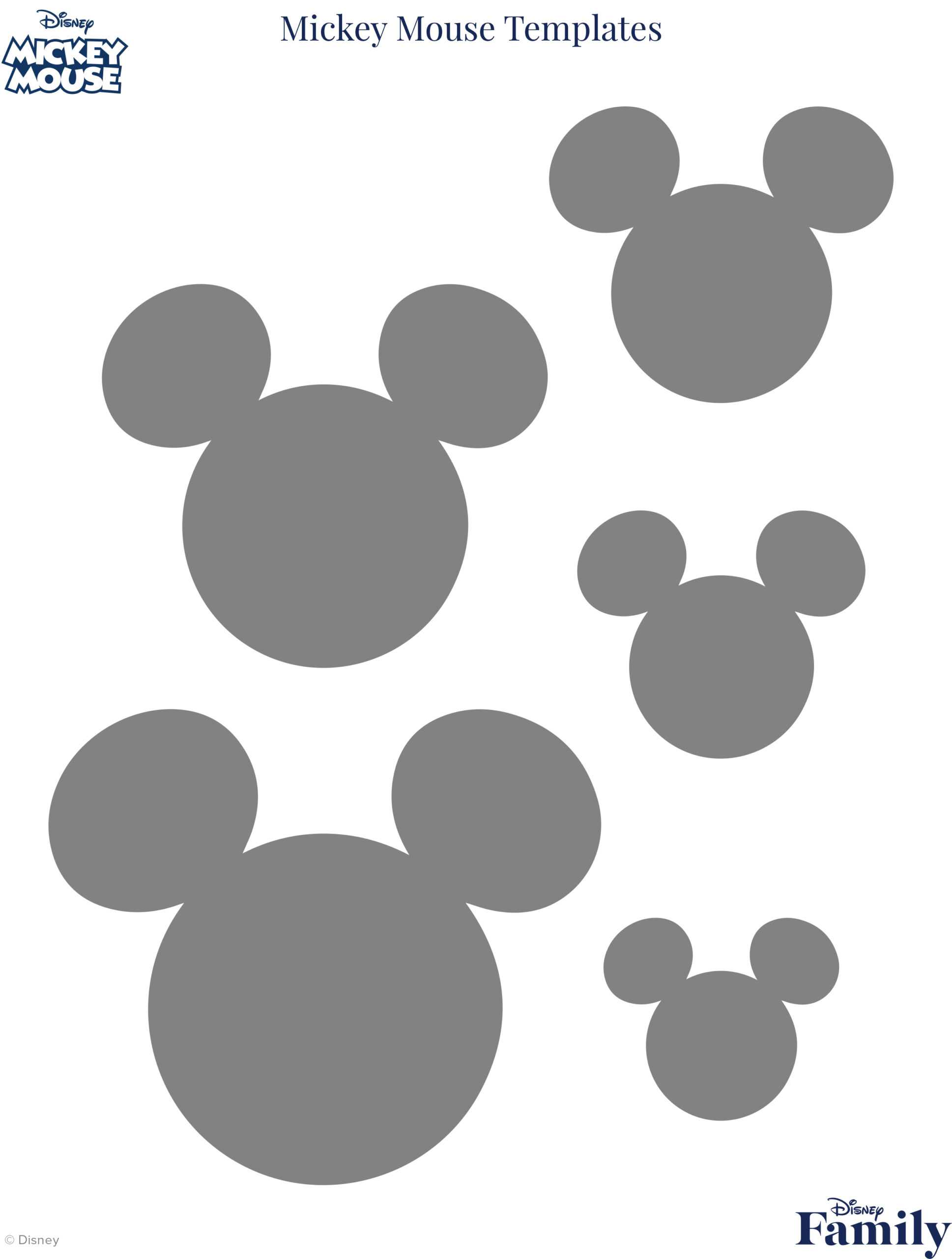 Mickey Mouse Template | Disney Family With Disney Letter Template