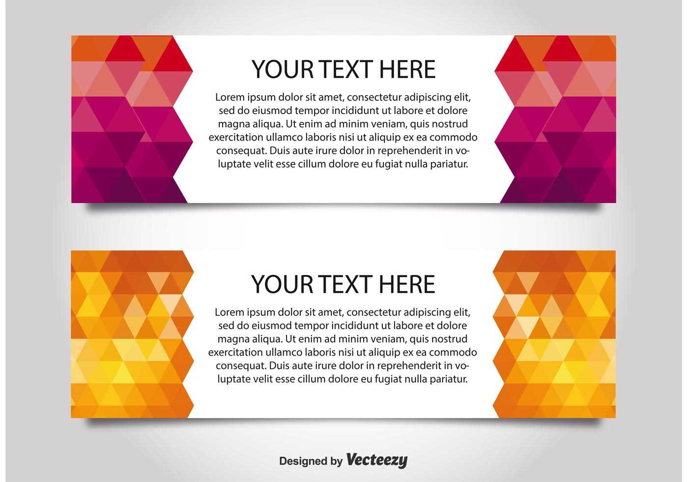 Modern Style Web Banner Templates - Download Free Vectors In Free Website Banner Templates Download