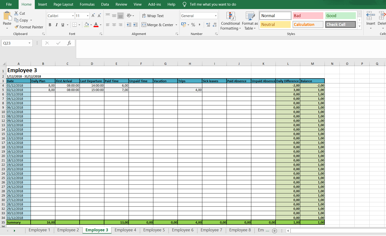 Monthly And Weekly Timesheets - Free Excel Timesheet Inside Excel Timesheet Template With Formulas
