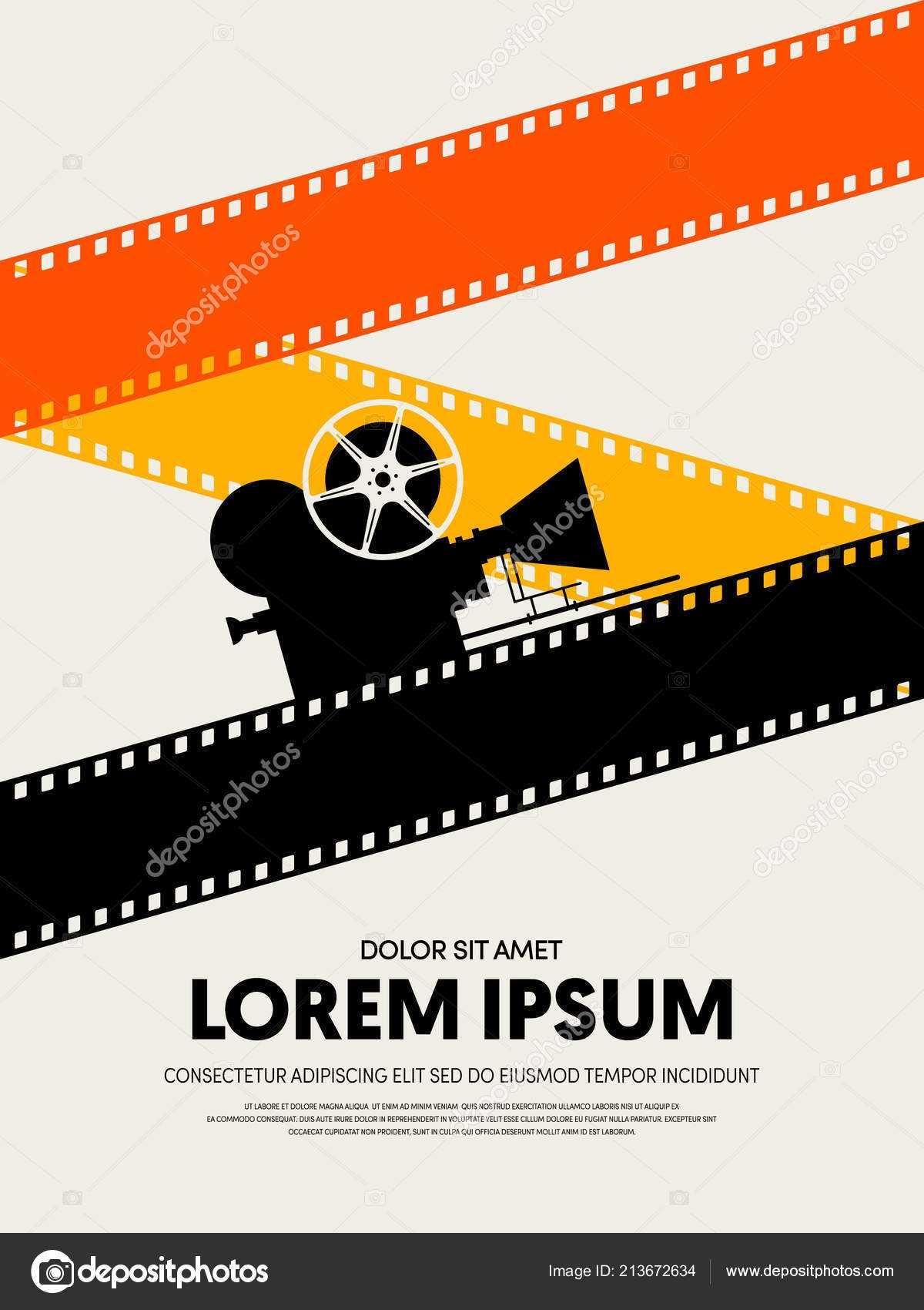 Movie Film Festival Poster Template Design Modern Retro Intended For Film Festival Brochure Template