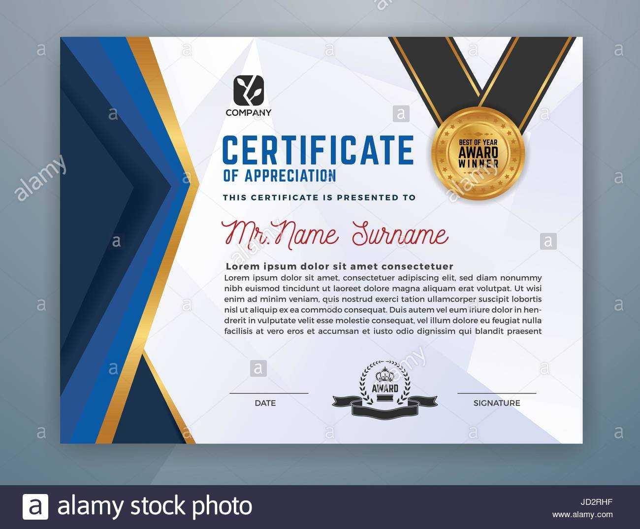 Multipurpose Modern Professional Certificate Template Design Regarding Design A Certificate Template