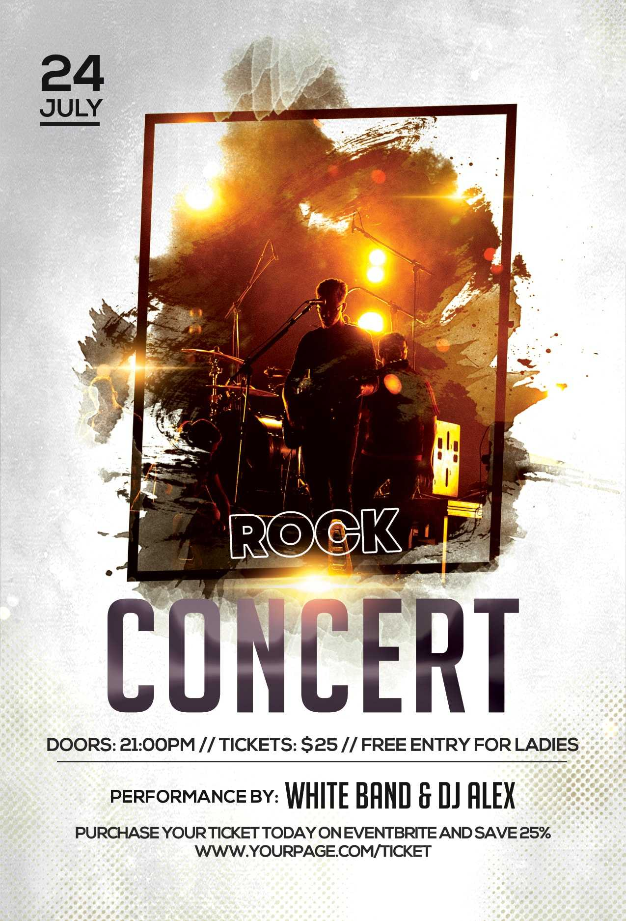 Music Concert Free Psd Flyer Template - Psdflyer.co Regarding Concert Flyer Template Free