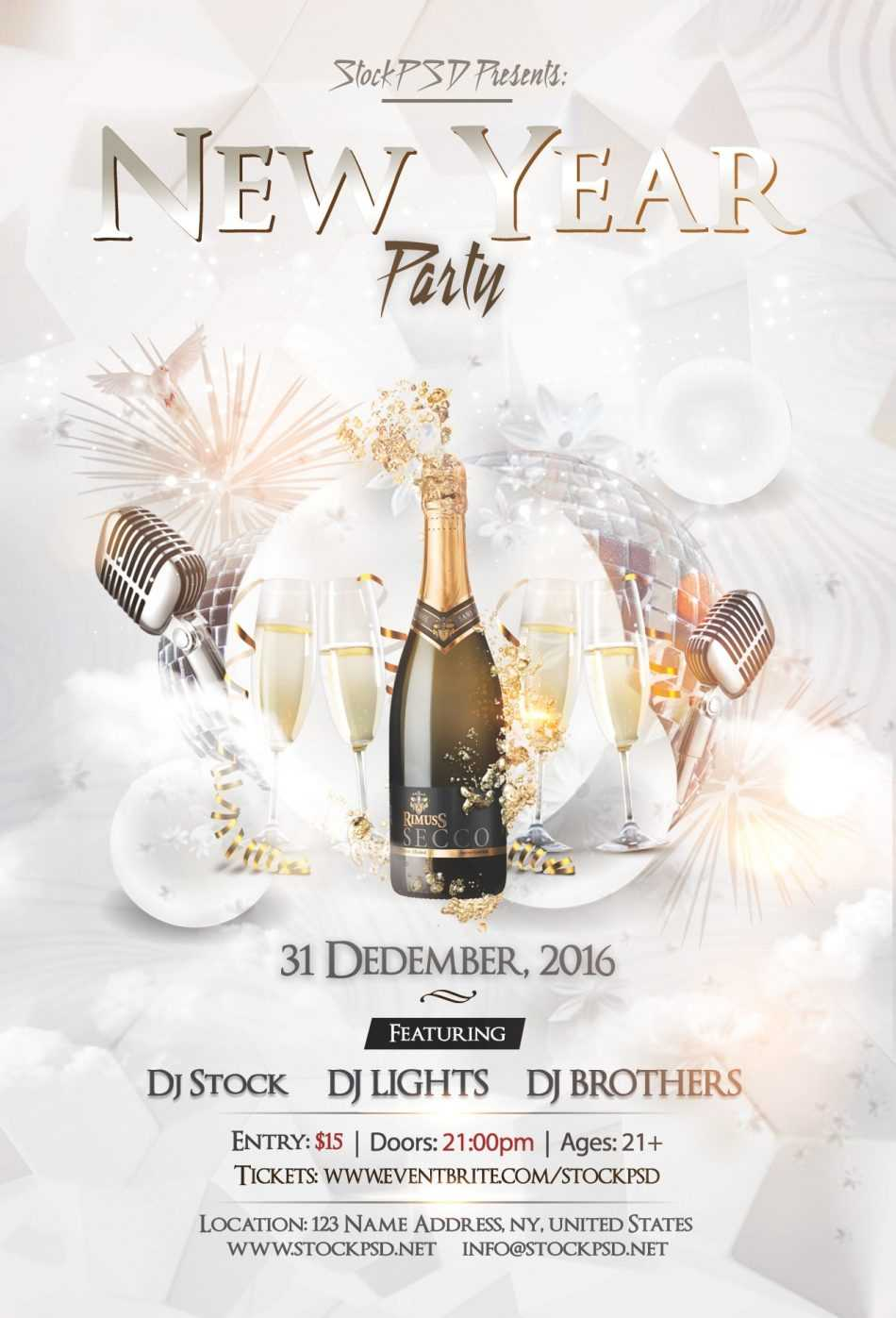 New Year Eve Party – Psd Free Nye Flyer Template - Psdflyer.co Inside Free New Years Eve Flyer Template