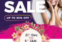 New Year Sale Free Flyer Psd Template – Psdflyer.co within Free Ad Flyer Templates