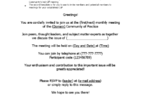 Official Meeting Invitation Email | Templates At intended for Email Template For Meeting Invitation