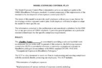 Osha Bbp Exposure Control Plan Template in Exposure Control Plan Template