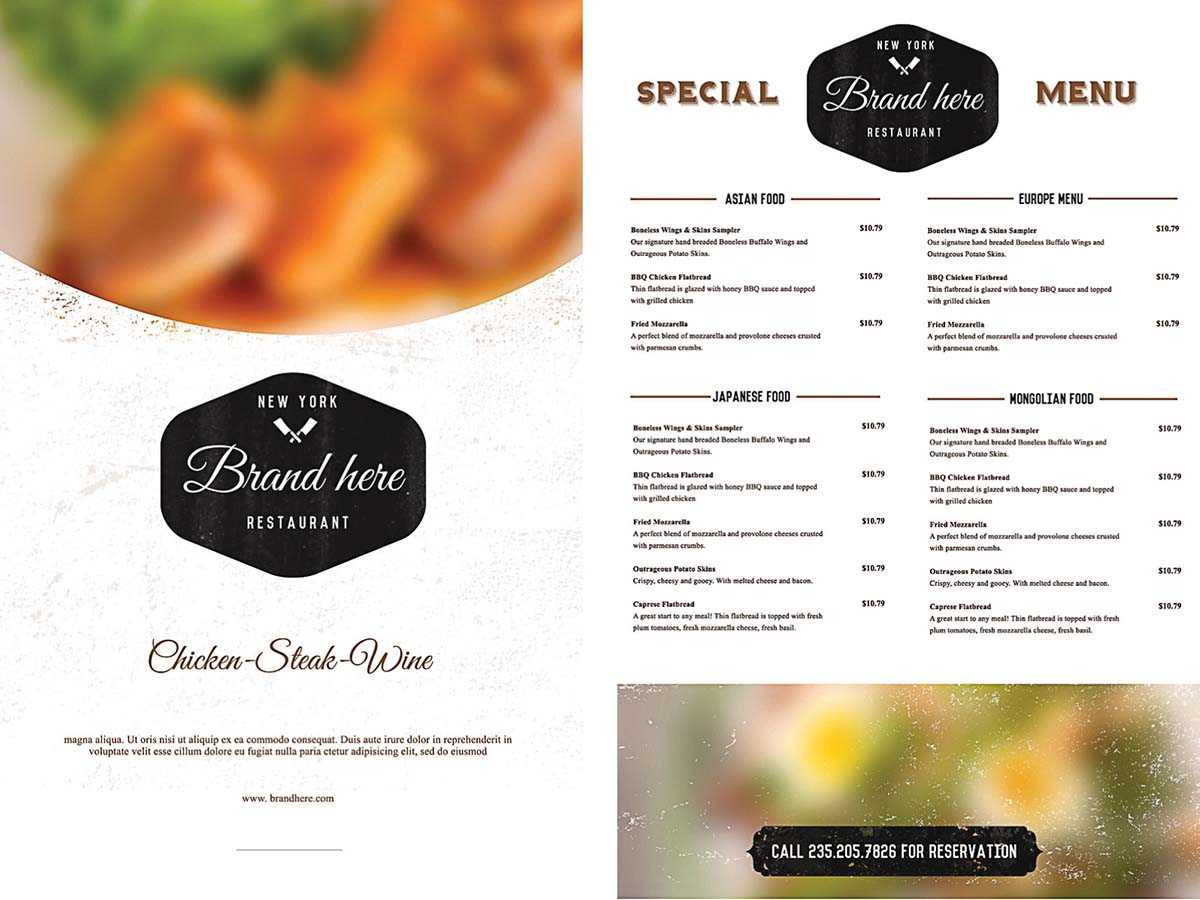 Outstanding Word Menu Templates Free Template Ideas In Free Cafe Menu Templates For Word