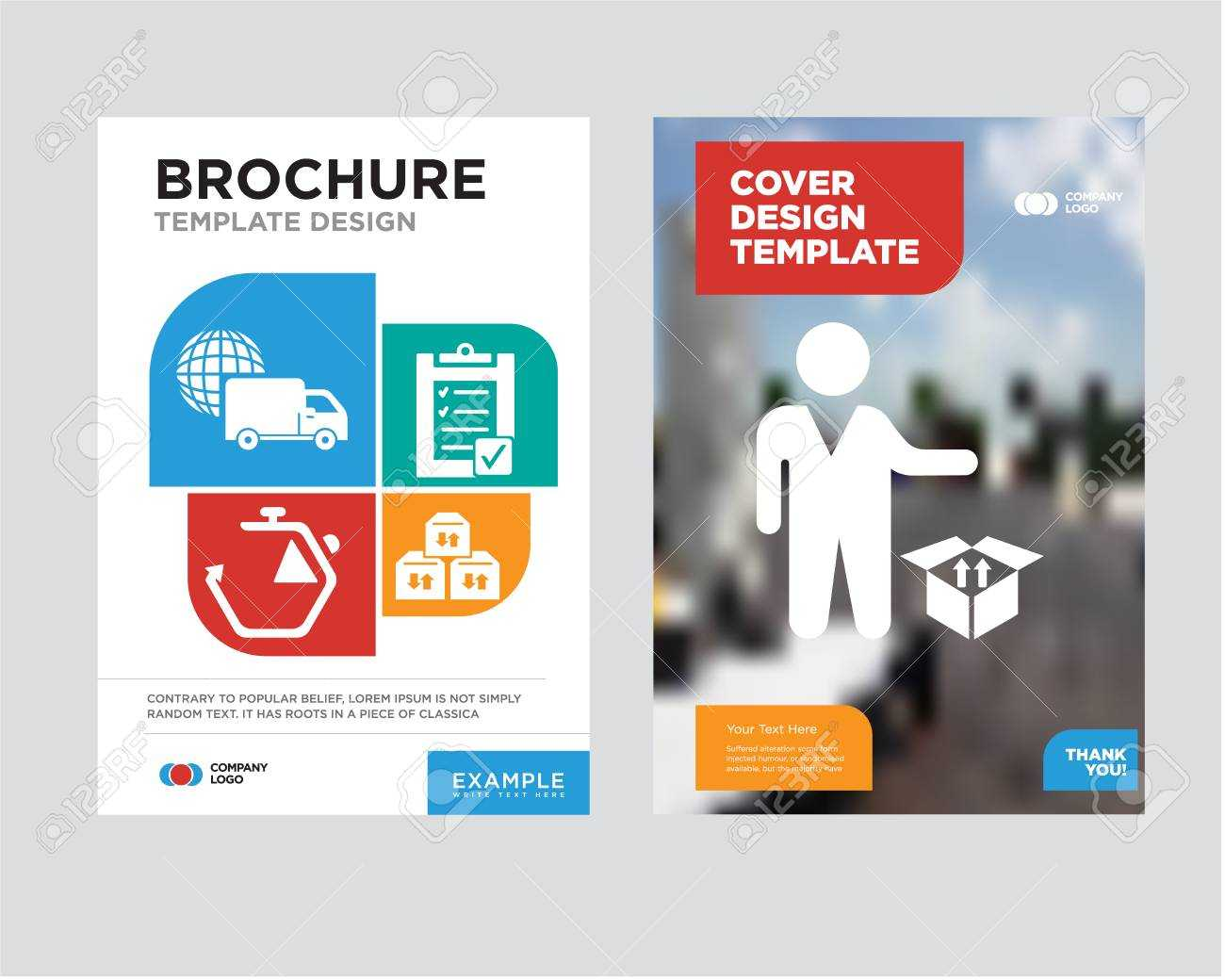 Person Standing Beside A Delivery Box Brochure Flyer Design Template.. Throughout Delivery Flyer Template