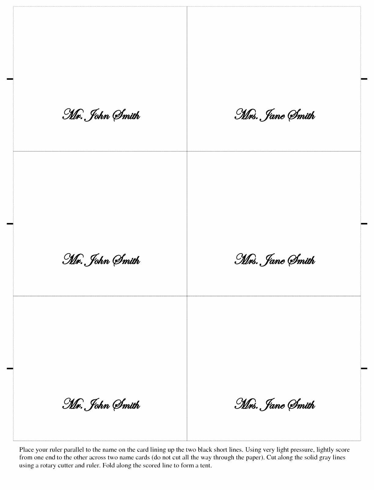 Place Card Template Per Eet Landing Page Small Tent Within Free Place Card Templates 6 Per Page