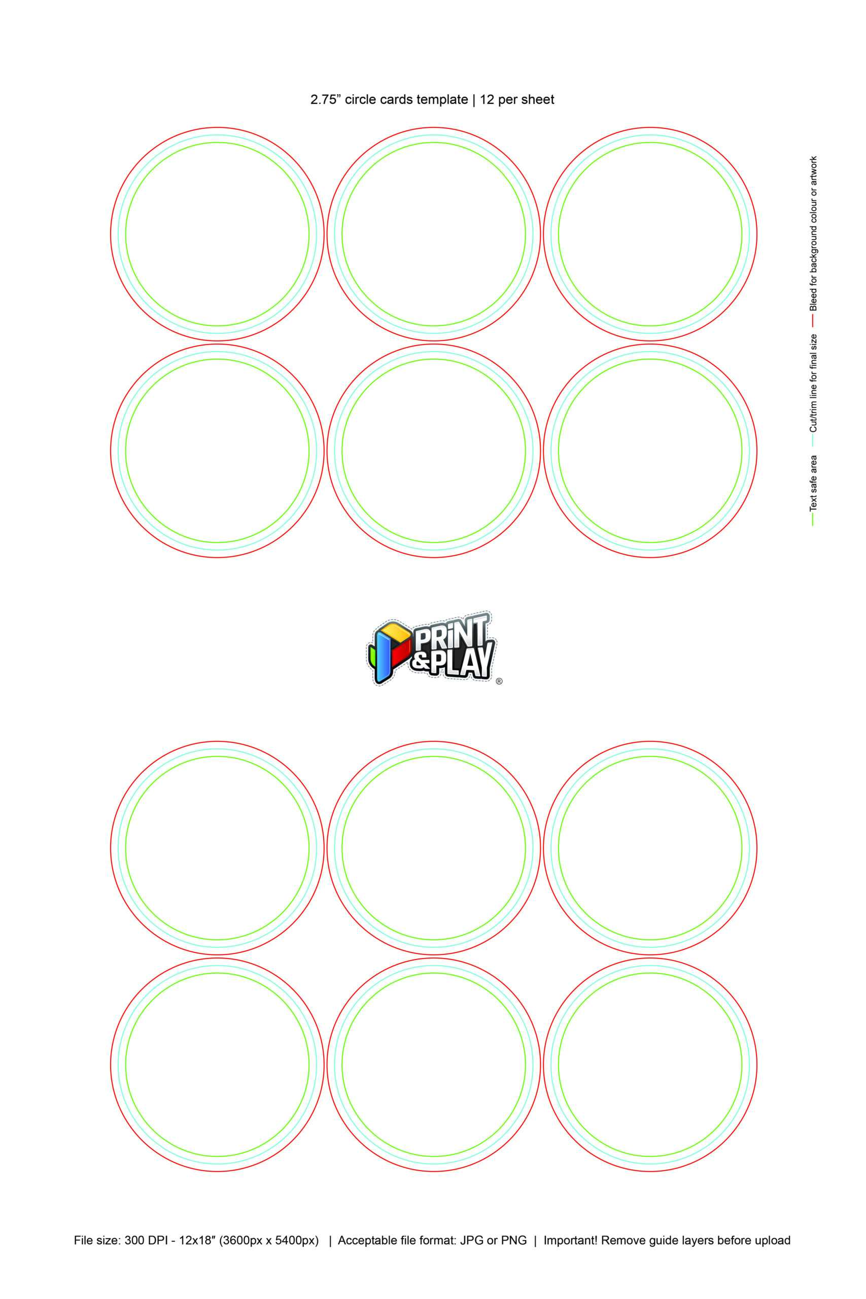 Playing Cards : Formatting & Templates – Print & Play With Custom Playing Card Template