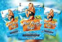 Pool Party Bash Free Psd Flyer Template – Psdflyer.co within Free Pool Party Flyer Templates