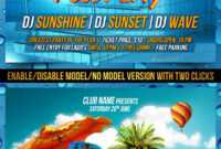 Pool Party Flyer Template Graphics, Designs & Templates regarding Free Pool Party Flyer Templates