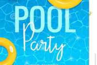 Pool Summer Party Invitation Template Invitation. Pool Party regarding Free Pool Party Flyer Templates