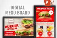 Powerpoint Video Ads – Create Video Ads And Digital Menu inside Digital Menu Board Templates