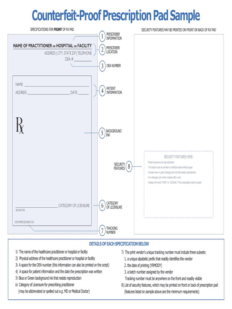 Prescription Pad Template - Fill Online, Printable, Fillable With Regard To Doctors Prescription Template Word