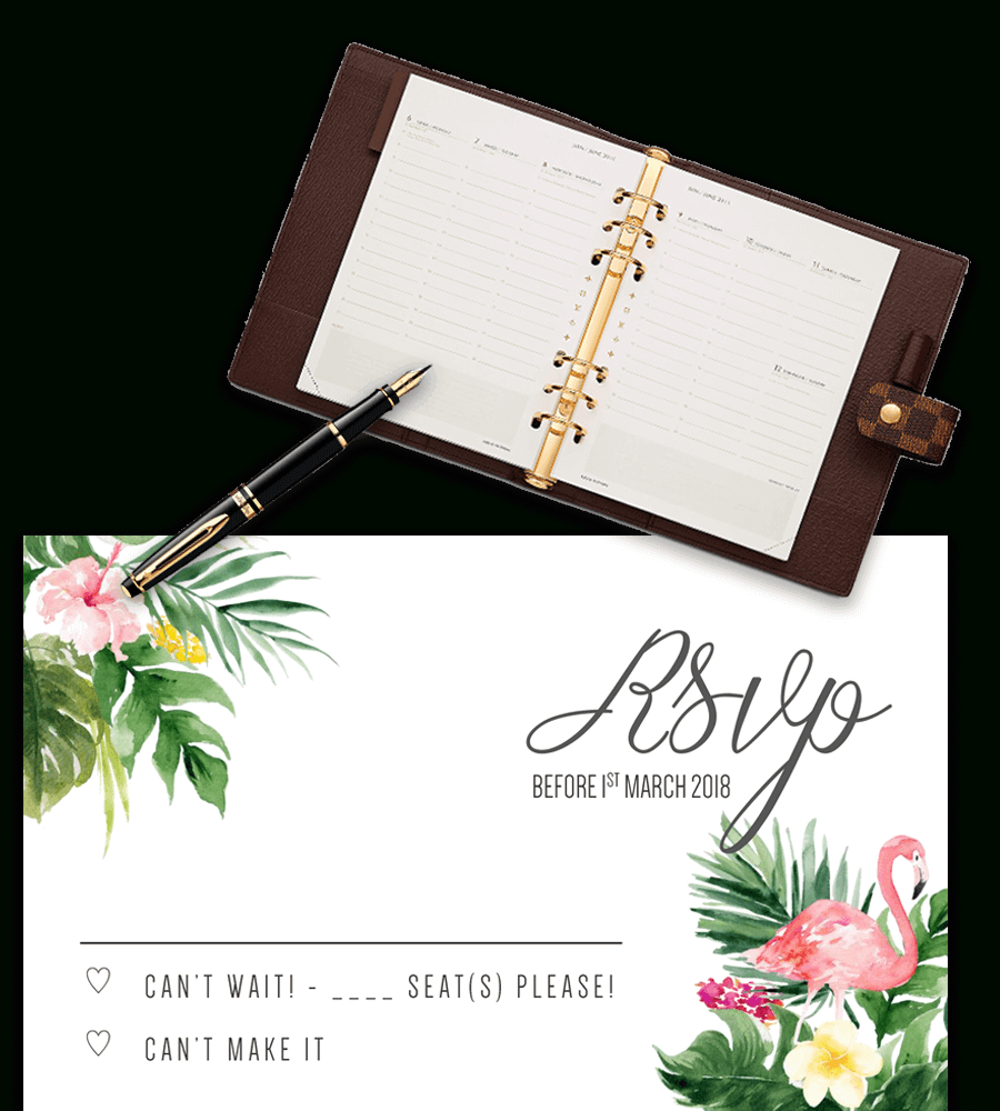Printable Free Wedding Rsvp Template & Cards Microsoft Word Regarding Free Printable Wedding Rsvp Card Templates
