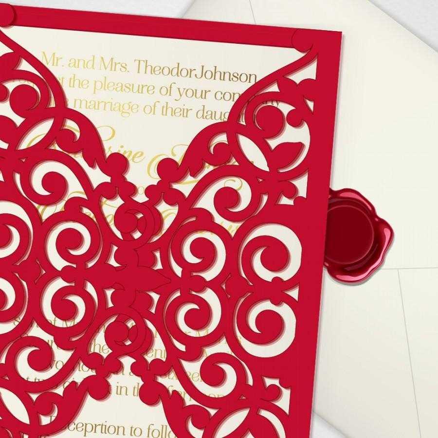 Printable Laser Cut Wedding Invitation Template, Vector Regarding Free Svg Card Templates