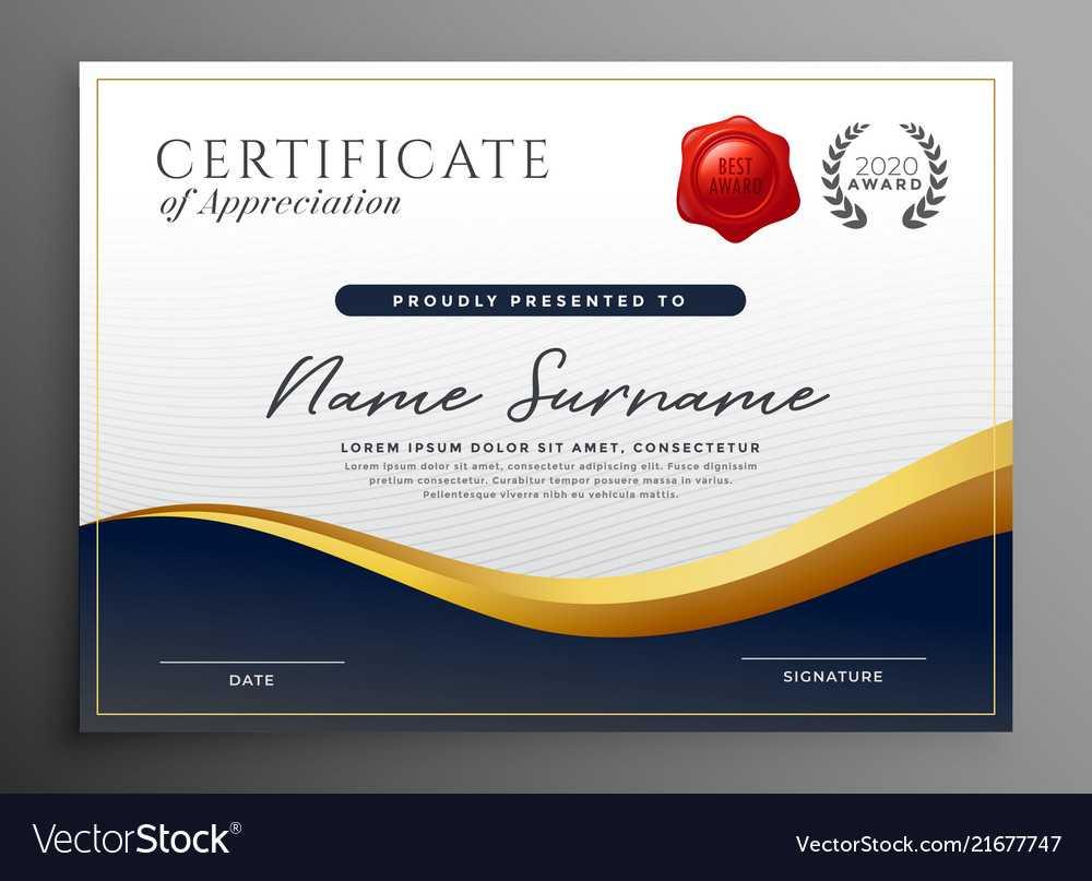 Professional Diploma Certificate Template Design With Regard To Design A Certificate Template