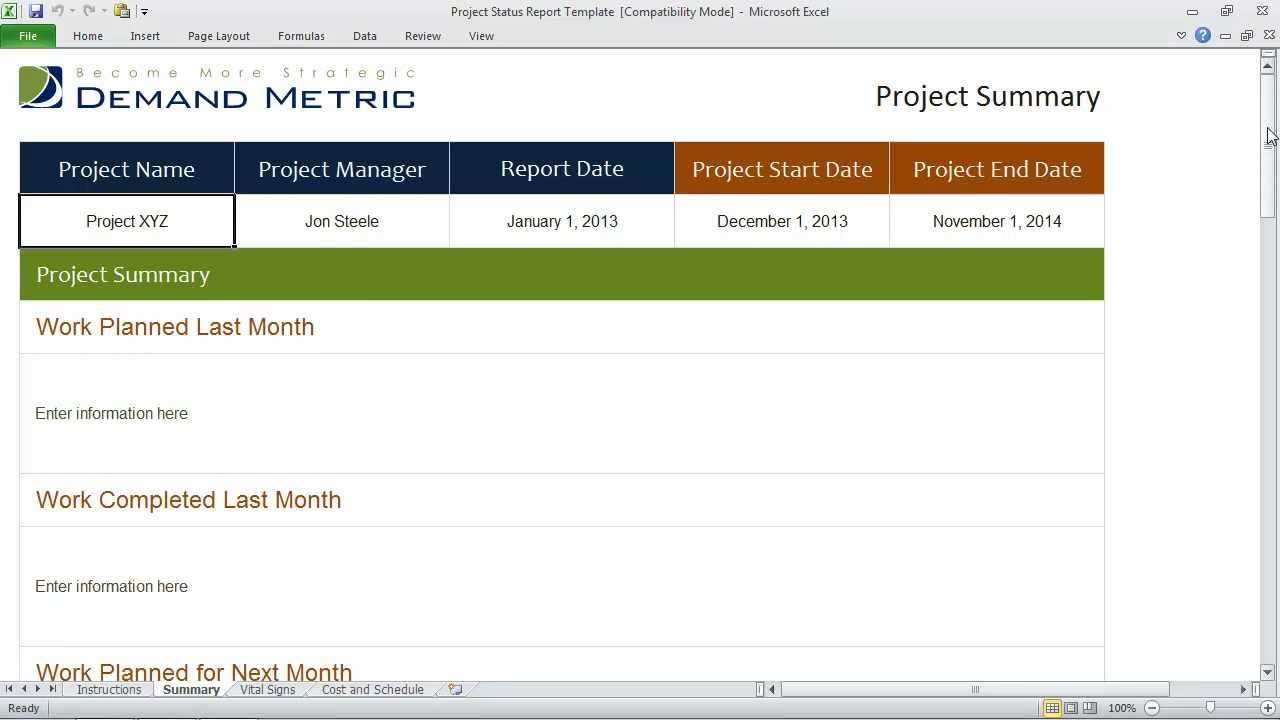 Project Progress Report Template Status Pptx Weekly Throughout Daily Status Report Template Xls