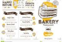 Restaurant Cafe Bakery Menu Template Stock Vector regarding Free Bakery Menu Templates Download