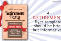 Retirement Flyer Ideas – Tunu.redmini.co inside Free Retirement Templates For Flyers