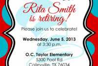Retirement Party Invitation Template Free Download in Free Retirement Templates For Flyers