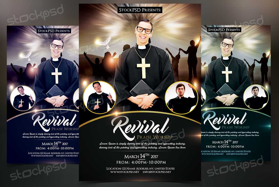 Revival - Free Church & Pastor Psd Flyer Template On Behance In Church Revival Flyer Template Free