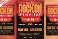 Rock Music Concert Flyer Template – Download Psd throughout Concert Flyer Template Free
