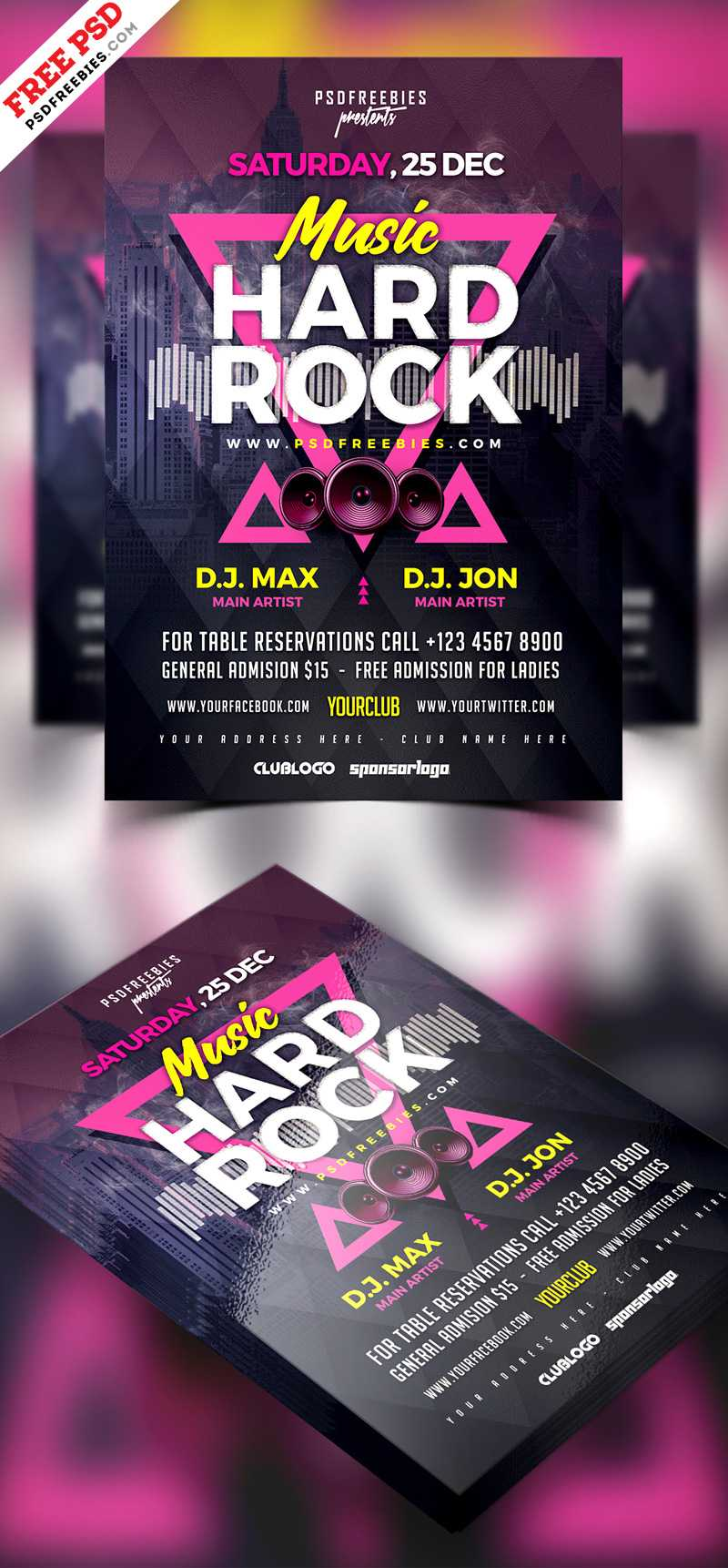 Rock Music Concert Flyer Template Psd | Psdfreebies Within Concert Flyer Template Free