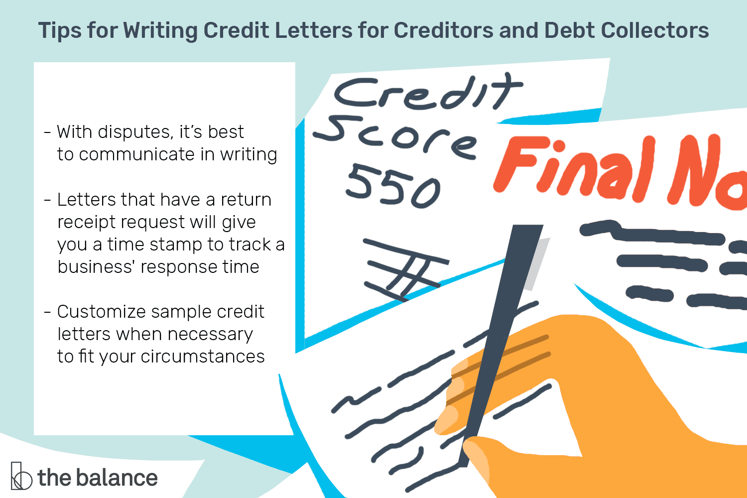 Sample Credit Letters For Creditors And Debt Collectors Intended For Dispute Letter To Creditor Template