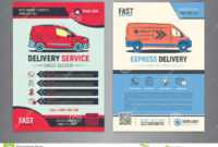 Set Of Express Delivery Service Brochure Flyer Design Layout throughout Delivery Flyer Template