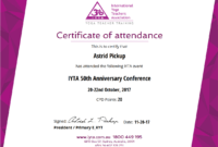 Simplecert Certificates Of Attendance pertaining to Conference Certificate Of Attendance Template