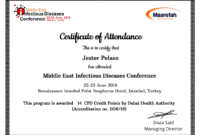 Simplecert Certificates Of Attendance within Conference Certificate Of Attendance Template