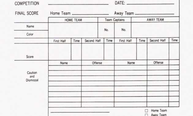 Soccer Report Card Template ] - Stat Sheet Template 7 Free with Football Referee Game Card Template