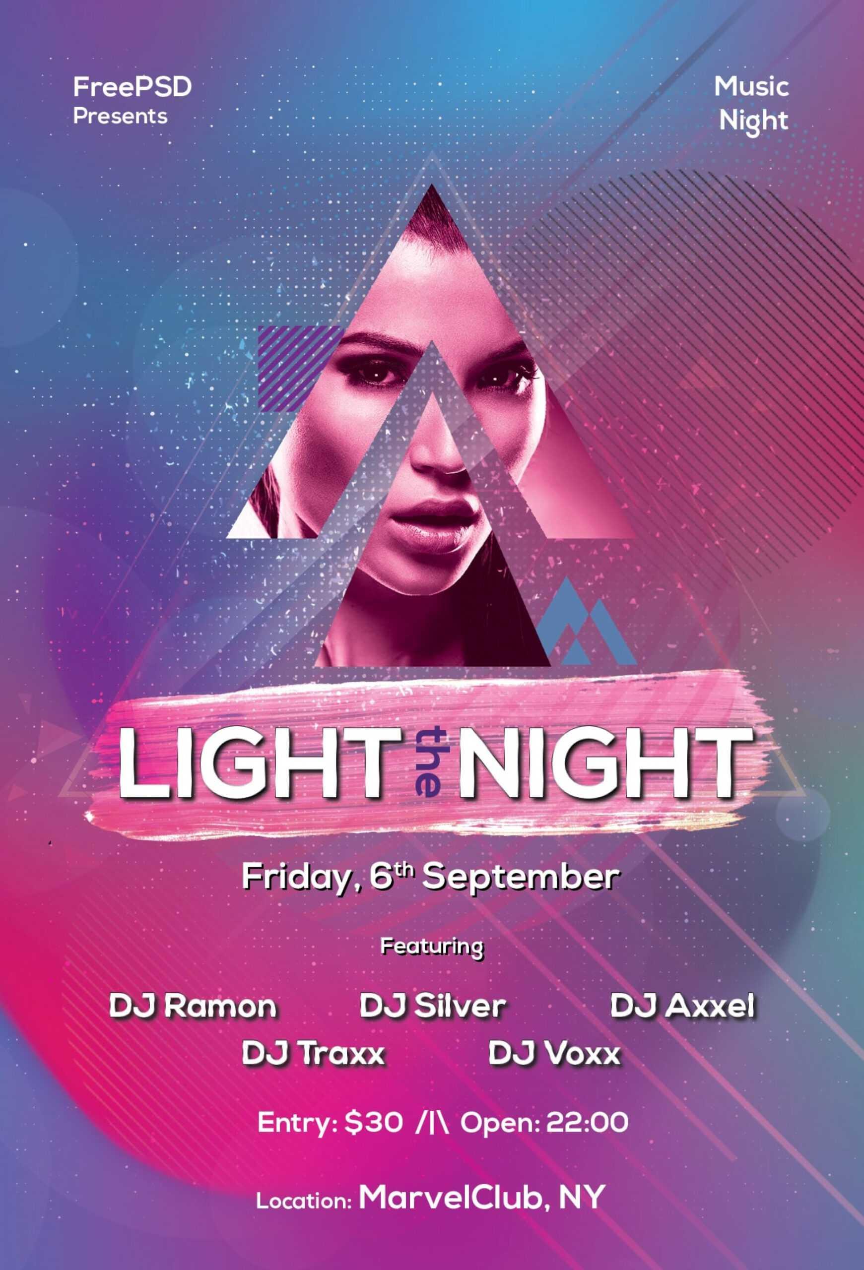 Striking Free Nightclub Flyer Templates Template Ideas Intended For Free Nightclub Flyer Templates