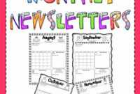 Striking School Newsletter Templates Free Template Ideas with regard to Free School Newsletter Templates